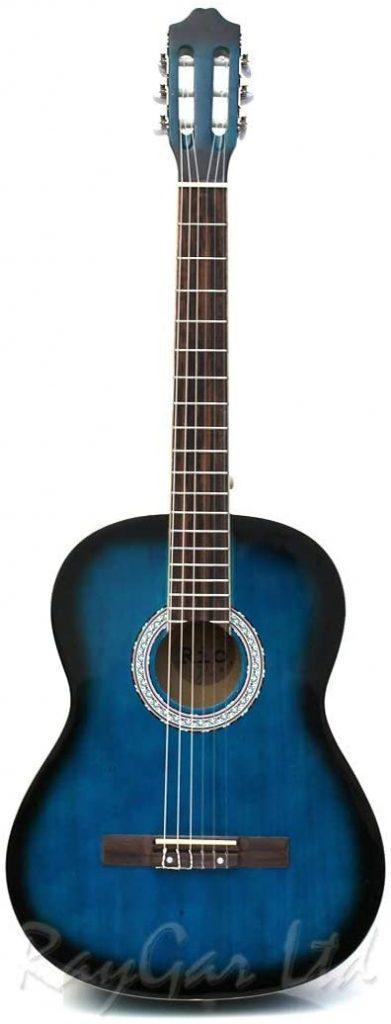 guitarra clásica de tamaño completo 4-4, incluye funda, correa, púa, afinador